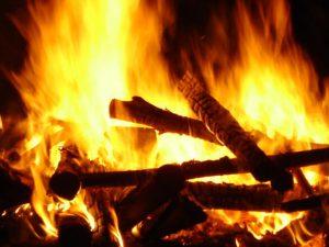 bild på en eld